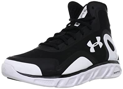 Under Armour Mens UA Spine™ Bionic Basketball Shoes 10.5 Black by Under Armour