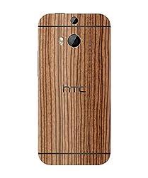 dbrand Zebra Wood Back Mobile Skin for HTC One M8