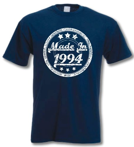 MADE IN 1994 - 18th Birthday Gift / Present T-Shirt Navy M