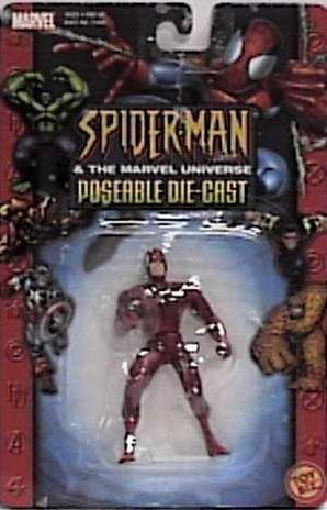 Spider-Man (Toy Biz) Daredevil Marvel Universe Die-Cast Action Figure - 1