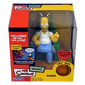 Picture of Playmates Homer Simpson BRAINEEZ Talking Figure from The Simpsons (B00015409Q) (Playmates Action Figures)