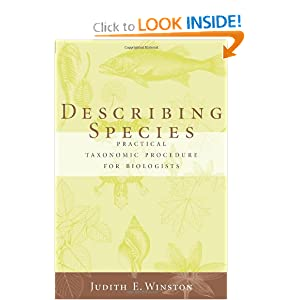 Describing Species Judith Winston