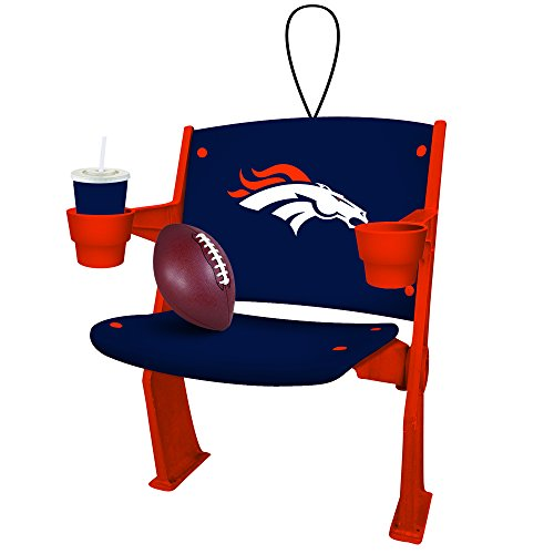 Denver Broncos Official NFL 4 inch x 3 inch Stadium Seat Ornament
