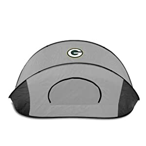 Green Bay Packers Picnic Time NFL Manta Sun Shelter (Black/Gray) by Picnic Time