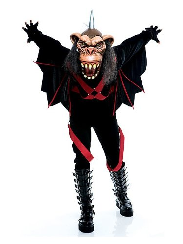 Adult the Wicked of Oz Flying Monkey Costume