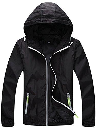 ZSHOW-Femme-Veste-de-Sport--Capuche-Uni-Lger-Protection-UV-Coupe-Vent-Impermable-Zip--Schage-Rapide