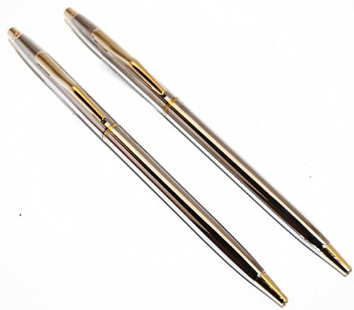 Classic-Chrome-and-Gold-Police-Uniform-Pens
