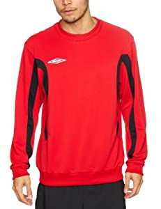 Umbro Men's Training Sweat Top - Vermillion/Black, X-Large