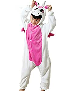 Us Top (Pink Unicorn)winter Kid Cosplay Unicorn Flannel Animal Pajamas