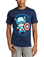 Marvel Men's Cap In Circle T-Shirt