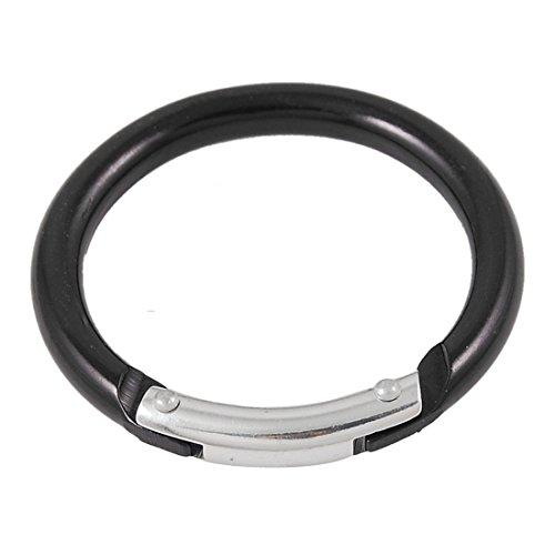 Sourcingmap-Mousqueton-rond-en-aluminium-Noir-49-cm
