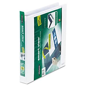 """Wilson Jones Products - Wilson Jones - Smart-View Vinyl Round Ring View Binder, 1"""" Capacity, White - Sold As 1 Each - Professional vinyl presentation binder with easy-to-load view front cover and spine. - Front cover folds back to allow perfect placement of a cover page, then folds over and securely slips into the edge of the cover. - Spine label customization is a snap; poly sleeve folds over the label for easy insertion into the holder. - Locking rings keep paper secure. - Two inside pock"""