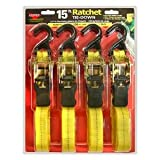 Keeper 05506 4-pack 15' Ratchet with Padded Handles