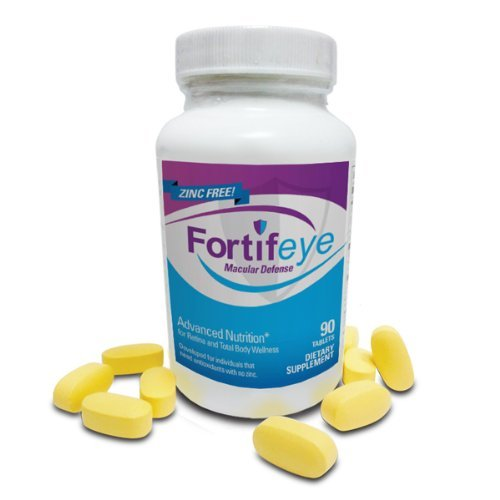 Fortifeye Zinc Free Macular Defense Vitamins (90 Tablets) (Fortifeye Super Omega 3 Fish Oil compare prices)