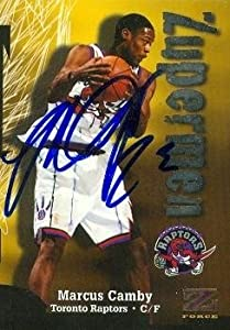 Marcus Camby Autographed Hand Signed Basketball Card (Toronto Raptors) 1997 Skybox Z... by Hall of Fame Memorabilia