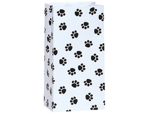 25/set Paw Print Black & White - All-occasion