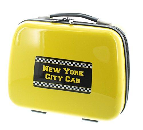 Pianeta New York City guscio rigido, valigia da viaggio, trolley, top-case, beauty-case ABS / policarbonato giallo / nero (Beautycase)