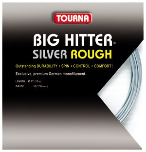 Tourna Tennis Racquet String Big Hitter Rough 16 Gauge, 40 FT-12 M-Silver