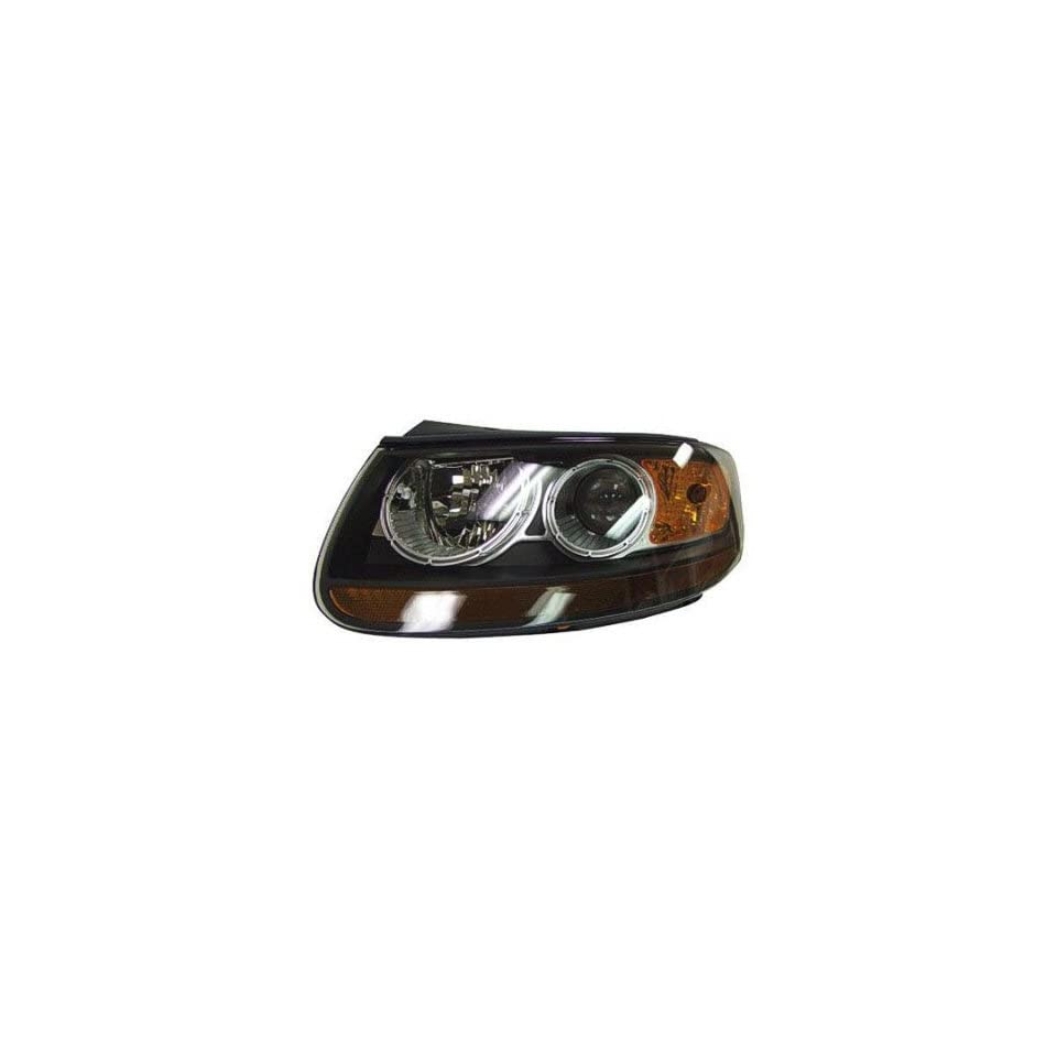 DRIVER SIDE HEADLIGHT Fits Hyundai Santa Fe HEAD LIGHT ASSEMBLY; TO PRODUCTION DATE 7/11/2007 [HAS 2 SIGNAL SOCKETS; LATE PRODUCTION ONLY HAS ONE]
