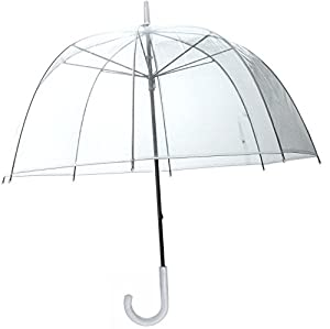 30 Full Size L Clear Plastic Dome Bubble Rain Umbrella