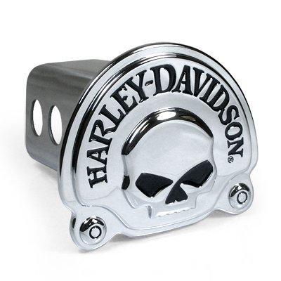 Harley Davidson 3D Millennium Skull Chrome Hitch Cover