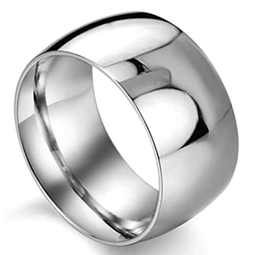 (キチシュウ)Aooazジュエリー メンズステンレスリング指輪 簡単なデザイン かっこいいリング シルバー 高品質のアクセサリー 日本サイズ28号(USサイズ13号)