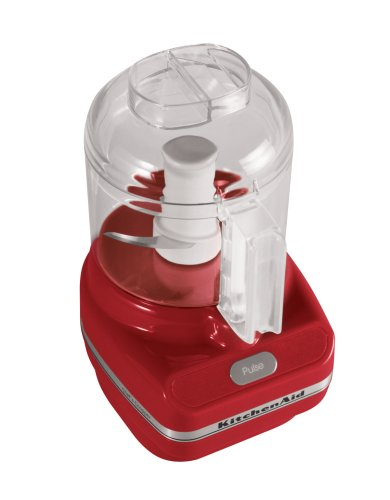 KitchenAid RKFC3100ER 3-Cup Chef's Food Chopper, Empire Red (Certified Refurbished)