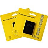 2 Pack Memory Card for Playstation 2, 128MB High Speed Memory Card for Sony PS2 ps2 Memory Card