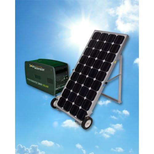 ... PowerSource 1800 Solar Generator : Solar Panels : Patio, Lawn & Garden