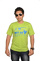 College Jugaad Light Green Printed Cotton T-shirt for Men