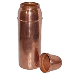 Copper Bottle with Lid for Health Benefits
