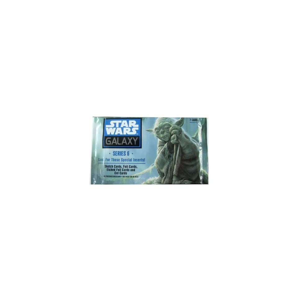 Star Wars Galaxy Trading Card Serie 6   7 Karten in der Packung
