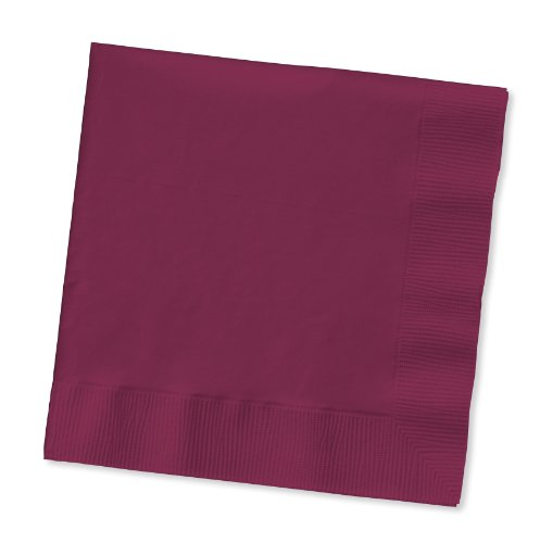 100 gorgeous BURGUNDY/burgandy lunch/dinner napkins for wedding/party/event, 2ply, disposable, Large Size 6.5