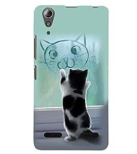 PRINTSWAG CAT Designer Back Cover Case for LENNOVO A6000 PLUS
