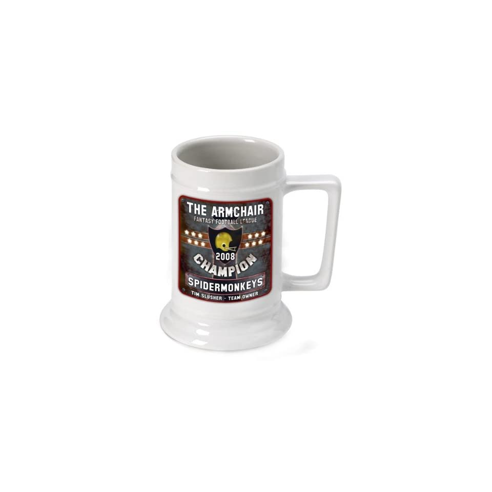 Personalized 16 oz. Beer Stein   Fantasy Football Champion Beer Stein   Beer Mugs