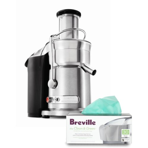 Breville Die-Cast Steel Juice Fountain Elite with Free Pulp Container Bags (Breville Juice Fountain Elite 800 compare prices)
