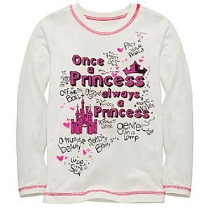 Organic Long Sleeve Disney Princess Tee