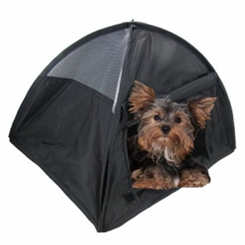 NEW Small Pop Up Camping Tent 14 Inch Black Nylon