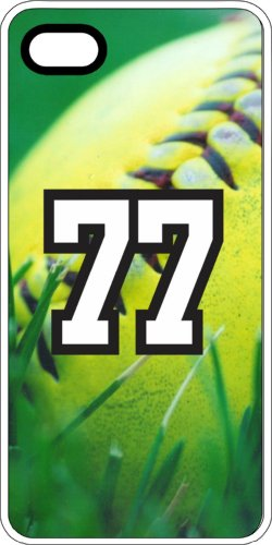 iPhone 6s 6 Case Softball Green Grass Any Custom Jersey Number 77 Clear Rubber (Iphone 6 Softball Cases Number 77 compare prices)