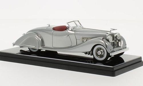 duesenberg-sj-gurney-nutting-speedster-argento-1935-modello-di-automobile-modello-prefabbricato-true