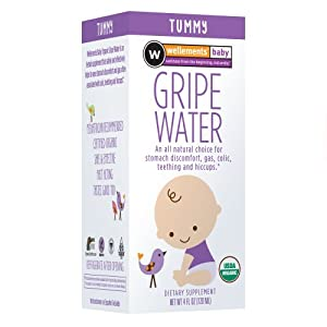 Wellements Organic Gripe Water for Tummy, 4 Fluid Ounce
