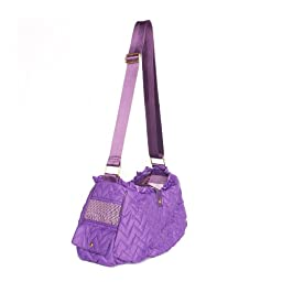 Dogs of Glamour Fab Messenger Dog Carrier, Purple