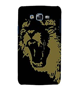 printtech Lion Animal Abstract Pattern Back Case Cover for Samsung Galaxy J1::Samsung Galaxy J1 J100F