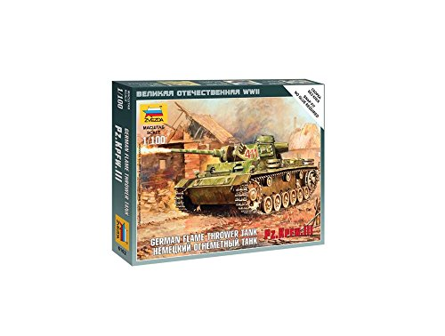 Zvezda Models Panzer III Flamethrower Tank, Scale 1/100