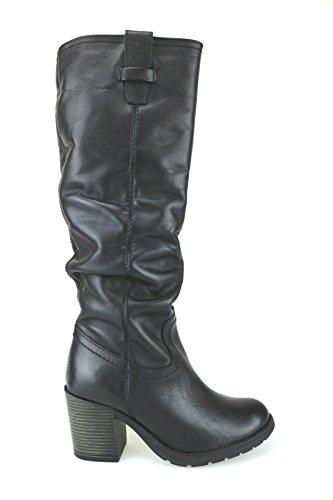 scarpe donna KEYS stivali nero pelle AJ121 (39)