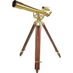 BARSKA Anchormaster 36x80mm Brass Refractor Telescope w  Mahogany Floor Tripod by Barska