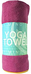 Yoga Mat Towel - Non Slip Grip; Hot New Accessory in Yoga and Pilates Gear; Best Lifetime Guarantee