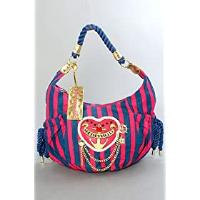 Betsey Johnson The Large Hobo in Navy Sailor Girl,Bags (Handbags/Totes) for Women