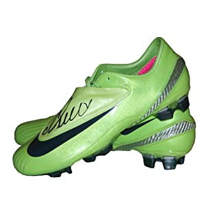 best service ae46b 319d2 Ronaldo Football Boots on Cristiano Ronaldo Signed Football Boot Nike  Mercurial Vapor Iv
