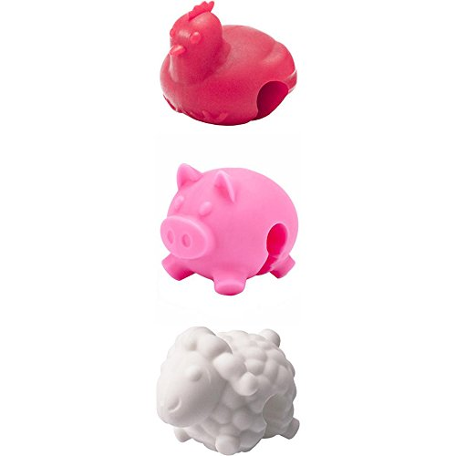 Tovolo Pot Lid Lifts, Farm Animals - Set of 3